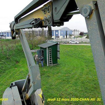 Le volant d'orientation du train avant du 31 est en place (Jeudi 12 mars 2020)